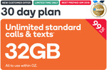 32GB Prepaid | 30 Days | $0.49 @ Kogan Mobile (New Customers)