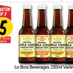 [VIC] Lo Bros Beverage Varieties 330ml $5 Per Box 8 @ NQR