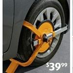 Lockable Wheel Clamp $39.99, Wacom Tablet $39.99, Slinky $4.99, UNO Cards $4.99 @ ALDI