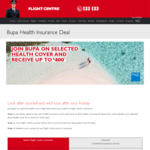Join Bupa on Selected Health Cover and Receive $200 or $400 Flight Centre Vouchers (New Customers Only)