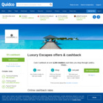 5% Cashback on Luxury Escape Packages @ Quidco