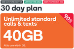 Kogan Mobile | 40GB Prepaid Extra Large | 30 Days | $2.90 (New Customers)