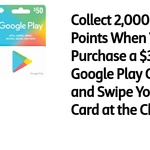 2,000 Flybuys Points (Worth $10) When Spend $30 or $50 on Google Play Gift Cards @ Coles