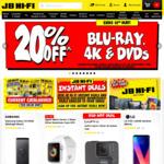 20% off Blu-Ray, 4K & DVDs @ JB Hi-Fi