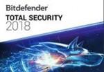 Bitdefender Total Security 2018 6 Months 5 Devices $2.09 @ Kinguin