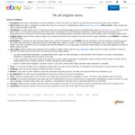 7% off Selected Items (Min $50 Spend) @ eBay