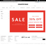 Country Road Take a Further 30% off Already Reduced Items