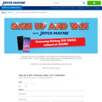 Win a Samsung Galaxy S10 128GB in Prism Black from Joyce Mayne