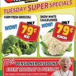 [QLD] Cauliflower $0.79 Each, Broccoli $0.79/kg @ Northside Fruit Barn (Rothwell)