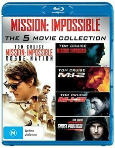 Mission Impossible 1 5 Blu Ray Boxset 14 20 Delivered Zoom Online