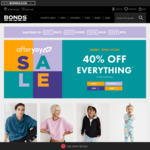 40% off RRP Sitewide + 30% ShopBack Cashback (Expired) @ Bonds