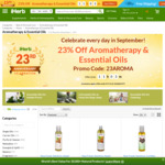 23% off Aromatherapy & Essential Oils at iHerb