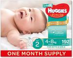 Huggies Ultimate Size 2 192pk One Month Supply $50 Delivered ($45 with Prime) @ Amazon AU
