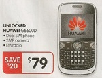 Huawei Dual Sim G6600D Mobile Unlocked $79 BigW online starts 13/7