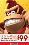 Nintendo $99 USD eShop Digital Cards US $85.80 (~AU $125.17) @ LVLGO (US Nintendo Accounts Required)