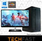 "Techfast System - Ryzen 5 3600 GTX 1660 6GB 240GB SSD 8GB + 27"" Monitor $863.20 + Delivery @ Techfast eBay"