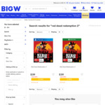 [XB1, PS4] Red Dead Redemption 2 - $39 (Free C&C or + $3.90 Delivery) @ BIG W