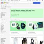 [eBay Plus] 10% off Eligible Items @ eBay ($100 Min Spend, $500 Max Discount)
