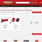 SCA Hydraulic Jack 1800kg + Wheel Chock $59.99, ToolPro Automotive Tool Kit + Gloves $198, 2x SCA Vehicle Jack $199.98 @ SCA