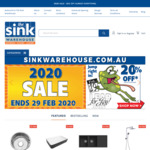 20% off Sale Extended to 29th Feb at The Sink Warehouse