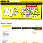 20% off All DVDs, Blu-Ray & 4K + Extra 10% off via Code (Expired) @ JB Hi-Fi