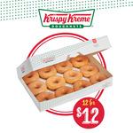 [SA] 12 Original Glazed Doughnuts $12 @ Krispy Kreme SA (Excludes OTR Stores)