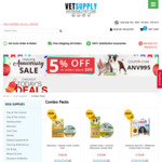 Combo Treatment Packs for Flea, Tick, Worms and Heartworms for Dogs - Starting from $55.98 @ Vetsupply