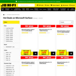 15% off Surface Range: Microsoft Surface Pro 7 i5 128GB (Platinum) $1274 & More @ JB Hi-Fi