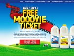 Buy1Get1 Free Movie Ticket with Purchase of Dairy Farmer's PURA Milk Bottle (2 Tickets in $19.10)