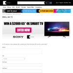 "Win a $2000 Sony 65"" Smart TV from Kicks"