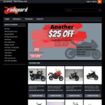Radguard, Extra $25 off Already Discounted Prices, Minimum $150 Spend + Delivery (~ $16), Motorcycle Radiator Guards etc