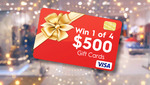 Win 1 of 4 $500 VISA Gift Cards from Nine Network