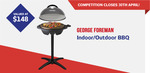 Win a George Foreman Indoor/Outdoor BBQ Worth $148 from Retravision