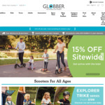 15% off Everything + Free Shipping @ Globber (Scooters)