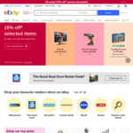 $10 off $100 - $499 | $50 off $500 - $999 | $100 off $1000+ Spend on Eligible Items @ eBay