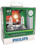 Philips LongLife EcoVision H7 Headlight Globes - 12V 55W $15 (Was $39.99) + Delivery @ Supercheap Auto