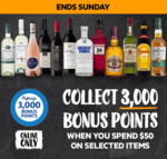 3000 Bonus flybuys Points (Worth $15) with $50 Online Spend on Selected Items @ First Choice Liquor