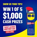 Win 1 of 5 $1,000 Cash Prizes from WD-40