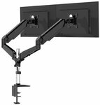 """BlitzWolf BW-MS4 Dual Monitor Stand with Pneumatic Arm 32"""" US$40.99 (~A$56.43) AU Stock Delivered @ Banggood"""