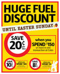 8c off Litre Fuel Voucher When You Spend $50 at Coles valid till 8th April 2012
