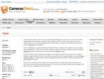 "Cameras Direct - Price Reduced on Apple Products Eg: 21.5"" iMac Desktop $999"