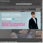 TOPMAN Free Shipping on All Orders - 1 Day Only