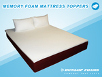 Dunlop Memory Foam Toppers from $59 DELIVERED + FREE SHEET SET