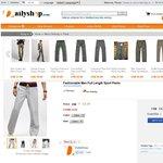 Fashionable Men Full Length Sport Pants 28% off $11.07 Shipped