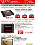 SanDisk Ultra Plus SSD $30 32GB, $50 64GB, $68 128GB, $124 256GB @ MSY Pickup (Starts Monday)