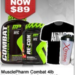 FREE Musclepharm Recon 2.6lb Shirt & Shaker Worth $99 When You Buy Combat 4lb @ $89 +FREE Shipping from Xtreme Warehouse