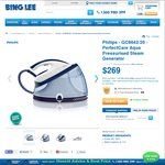 Philips Steam Pressure Iron GC8642 $169 after $100 Cashback @ Bing Lee (RRP $429.95)