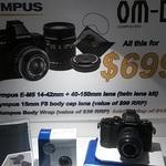 Olympus OM-D EM-5 3 Lens Kit 14-42mm, 40-150mm, 15mm Lens Cap for $699 @ Camera House Parramatta NSW