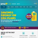 Optus BYO Plan $20/Month for 6 Months 3GB, Unlimited Talk/Texts, $25 for 5GB