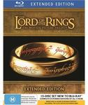 Lord of The Rings Extended Trilogy Blu-Ray $45.58 @ JB Hi-Fi